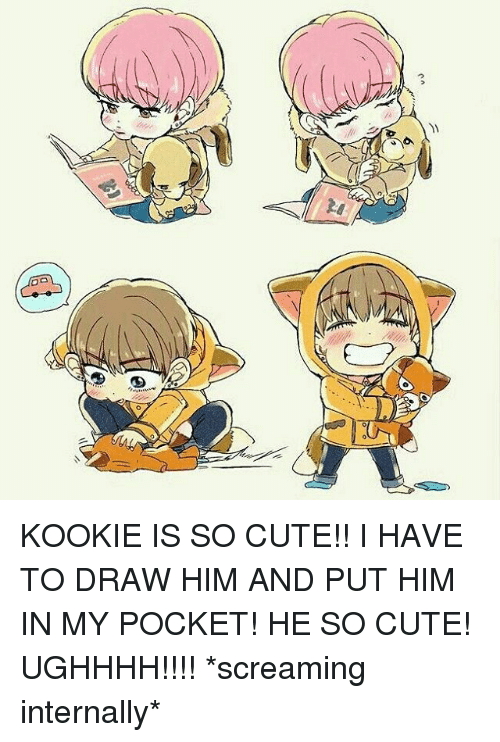 Kookie Is So Cute I Have To Draw Him And Put Him In My Pocket He