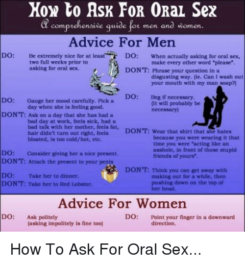 How to perform good oral sex on a man