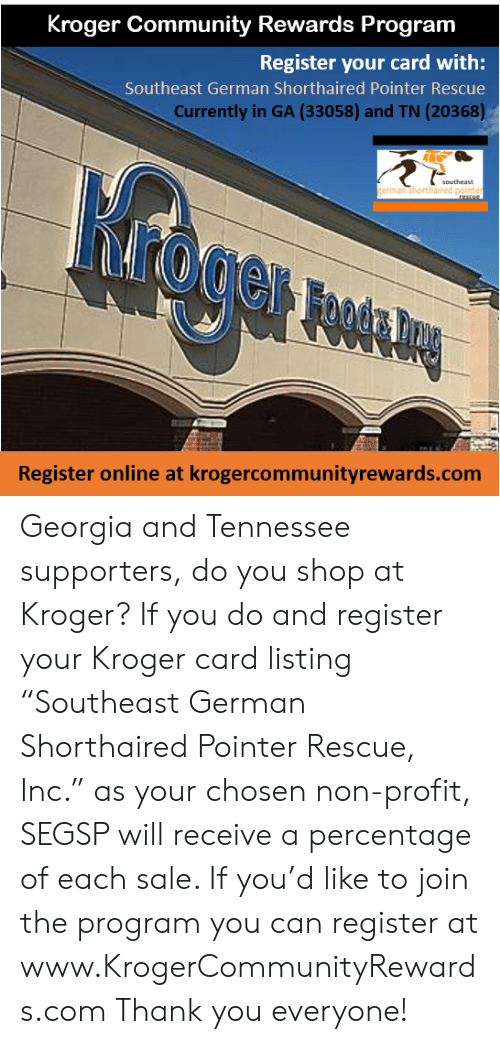 Community, Memes, and Thank You: Kroger Community Rewards Program Register your card with