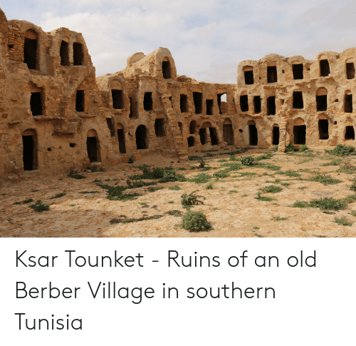 Old, Tunisia, and Berber: Ksar Tounket - Ruins of an old Berber Village in southern Tunisia