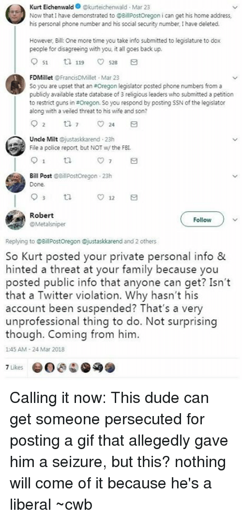Kurt Eichenwald Kurteichenwald Mar 23 Now That I Have