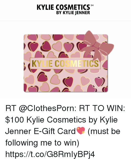 Kylie cosmetics gift card