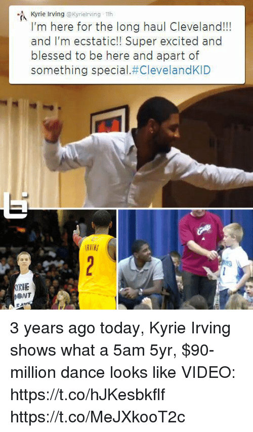 Kyrie Irving Th I'm Here for the Long Haul Cleveland!! And I