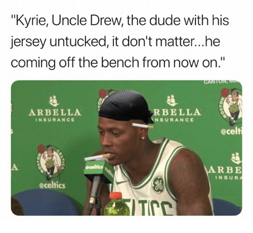 8cab5e1c783 Kyrie Uncle Drew the Dude With His Jersey Untucked It Don t Matterhe ...