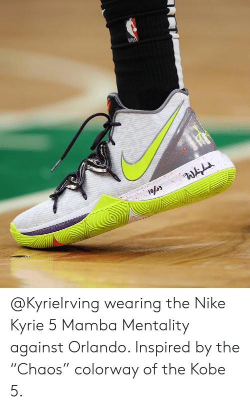 50aacaf552bd Wearing the Nike Kyrie 5 Mamba Mentality Against Orlando Inspired by ...