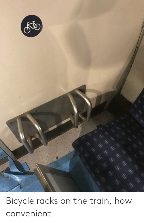 Bicycle, Train, and How: l Bicycle racks on the train, how convenient