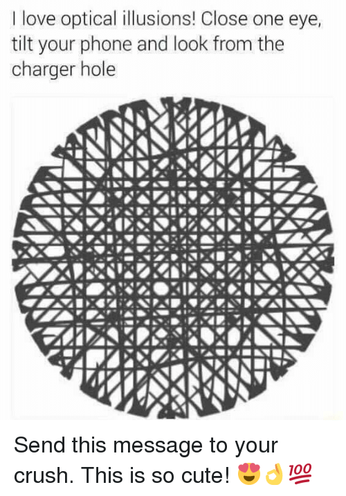 L Love Optical Illusions Close One Eye Tilt Your Phone And Look