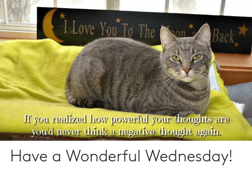 Love, Memes, and Yo: L.Love Yo o The n Back  If you realized how powerful your thoughts are  oud never think a negative thought again Have a Wonderful Wednesday!