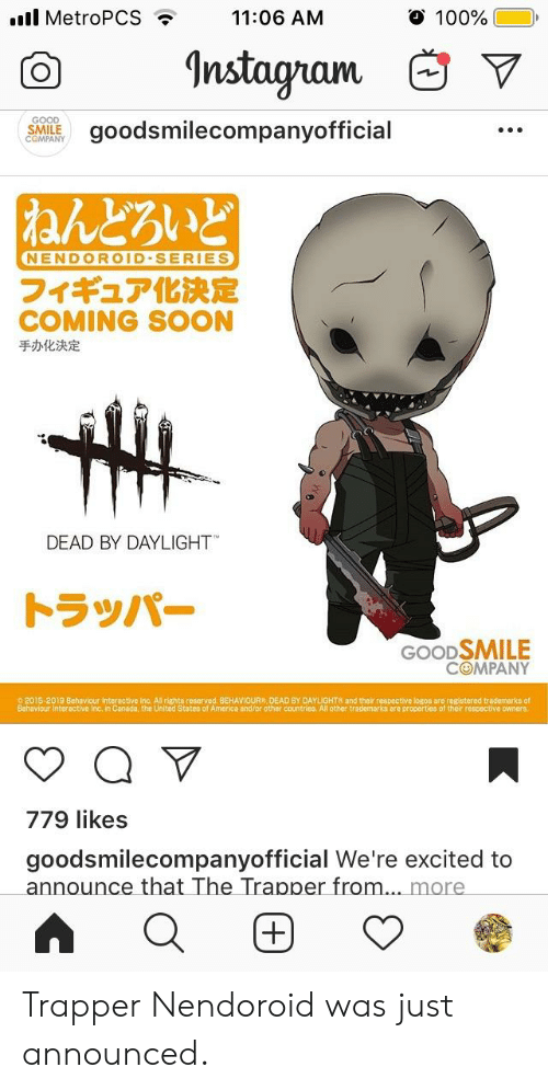 Good Smile Company Nendoroid Dead By Daylight The Trapper