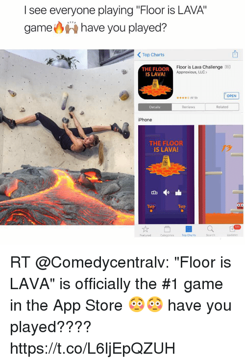 L see everyone playing floor is lava game have you played for Floor is lava meme