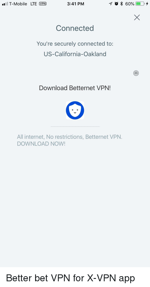 L T-Mobile LTE VPN 341 PM Connected You're Securely