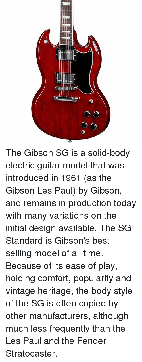 L The Gibson Sg Is A Solid Body Electric Guitar Model That Was