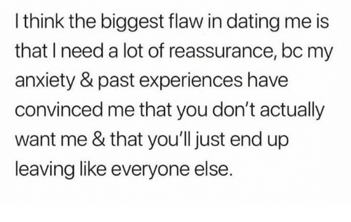 anxiety dating