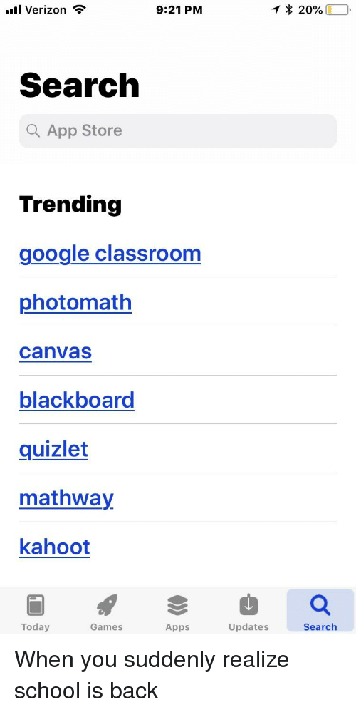 L Verizon 921 PM Search a App Store Trending Google ... on