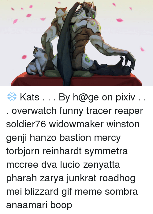 La Kats By H Ge On Pixiv Overwatch Funny Tracer Reaper Soldier76