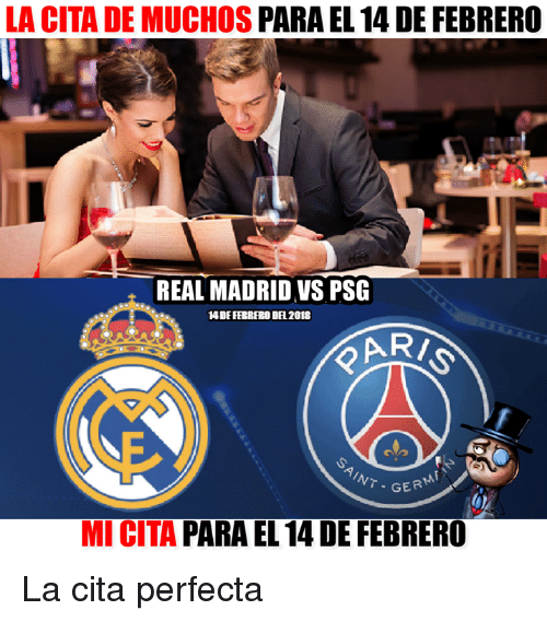 Real Madrid Vs Psg Valentines Day Meme