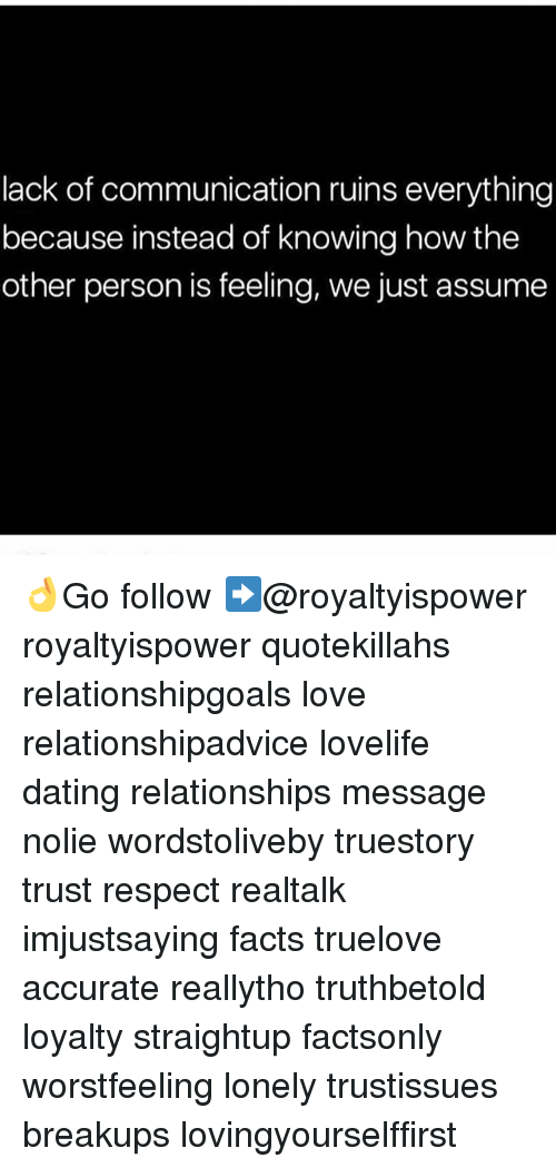lack of communication dating