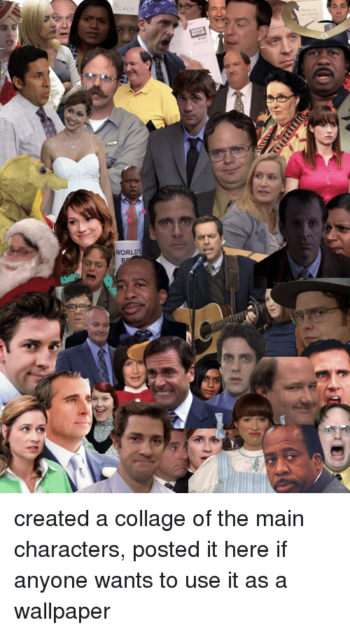 the office collage and wallpaper lack world