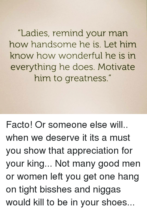 how to let him know you appreciate him