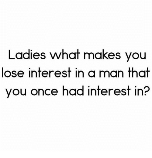 what to do if he is losing interest