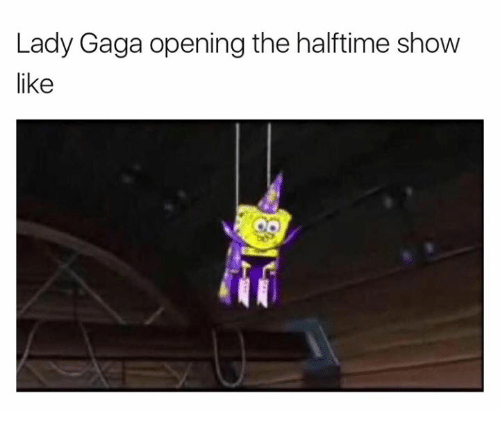 Lady Gaga, Gaga, and Show: Lady Gaga opening the halftime show  like
