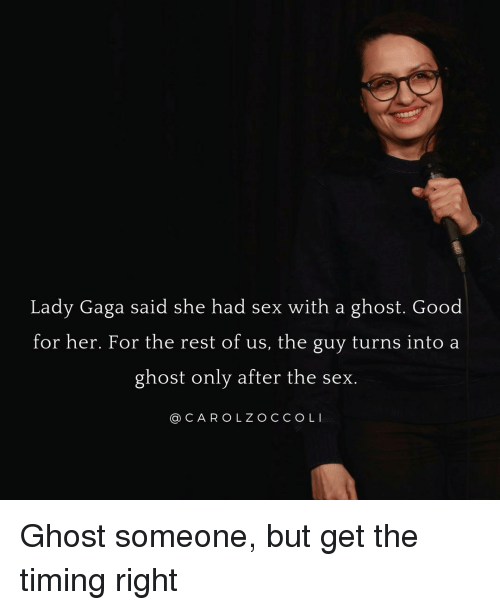 Ghost had sex with me