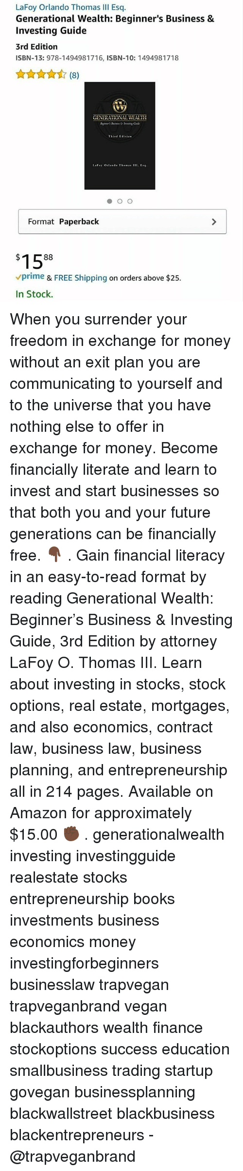 Lafoy orlando thomas iii esq generational wealth beginners business amazon books and finance lafoy orlando thomas iii esq generational wealth beginners fandeluxe