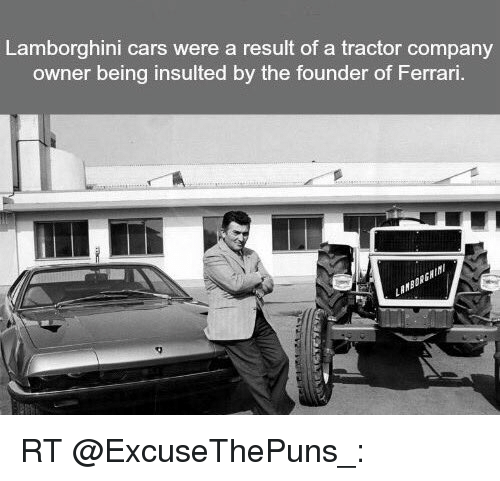 Lamborghini Cars Were A Result Of A Tractor Company Owner Being