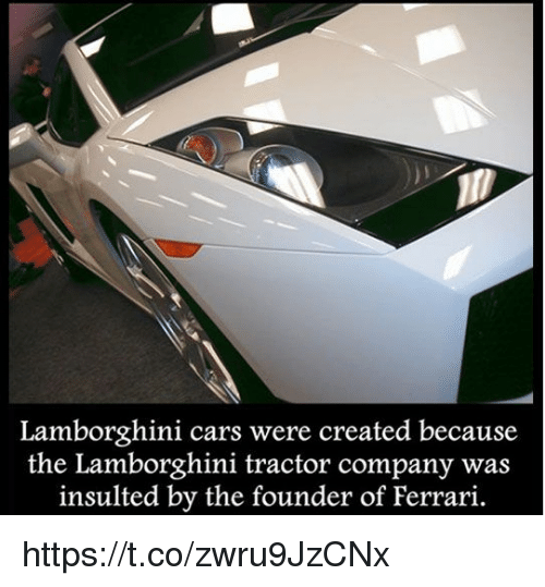 Lamborghini Cars Were Created Because The Lamborghini Tractor