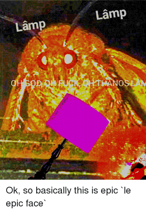 Epic, Lamp, and Face: Lamp  Lamp