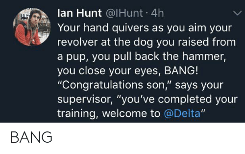 Lan Hunt 4h Your Hand Quivers as You Aim Your Revolver at the Dog