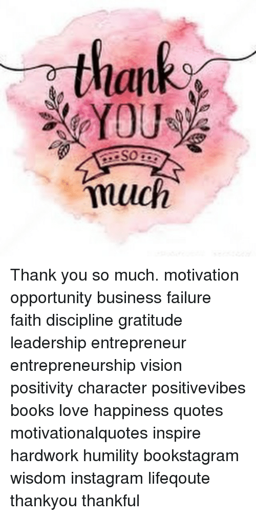 Lan You So Much Thank You So Much Motivation Opportunity Business