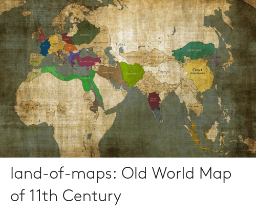 Tumblr, Blog, and Maps: land-of-maps:  Old World Map of 11th Century