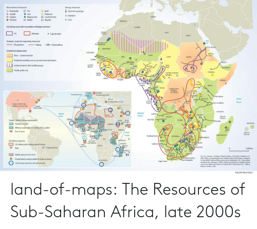 Africa, Tumblr, and Blog: land-of-maps:  The Resources of Sub-Saharan Africa, late 2000s