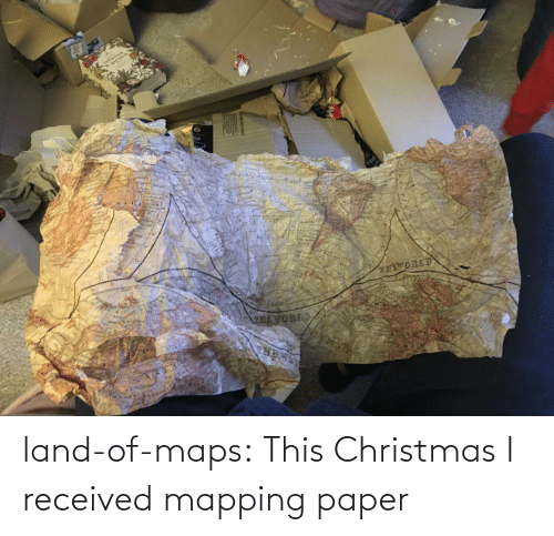 Christmas, Tumblr, and Blog: land-of-maps:  This Christmas I received mapping paper