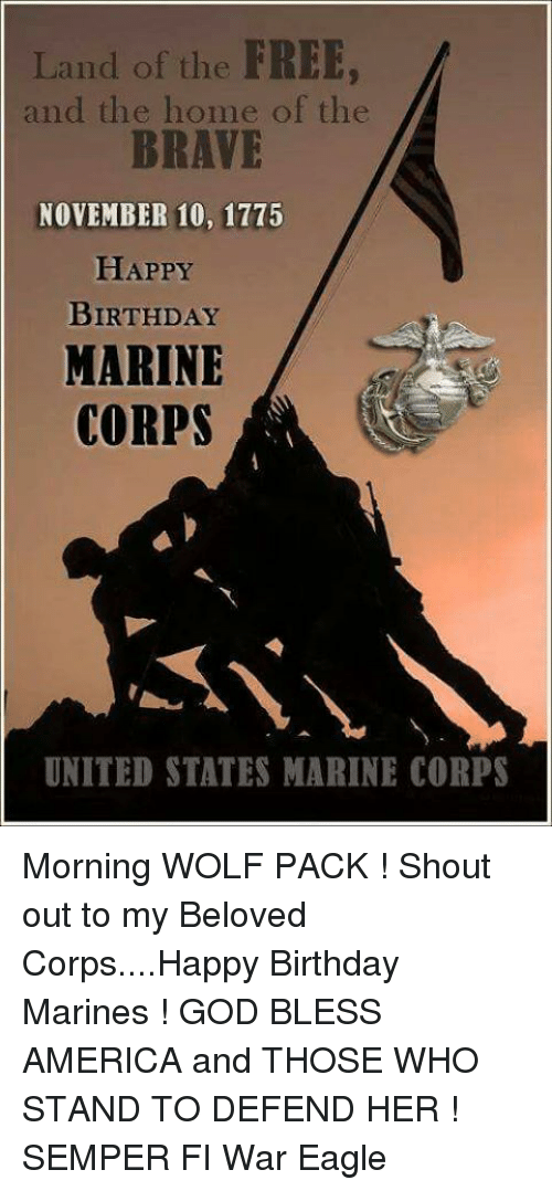 land of the free and the home of the brave 6675945 25 best happy birthday marine memes happy birthday marines memes