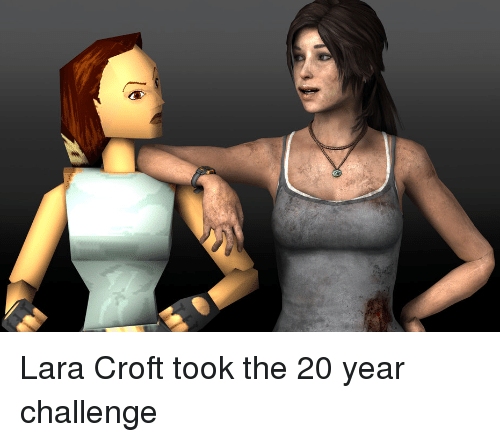 Lara Croft And Lara Croft Meme On Me Me