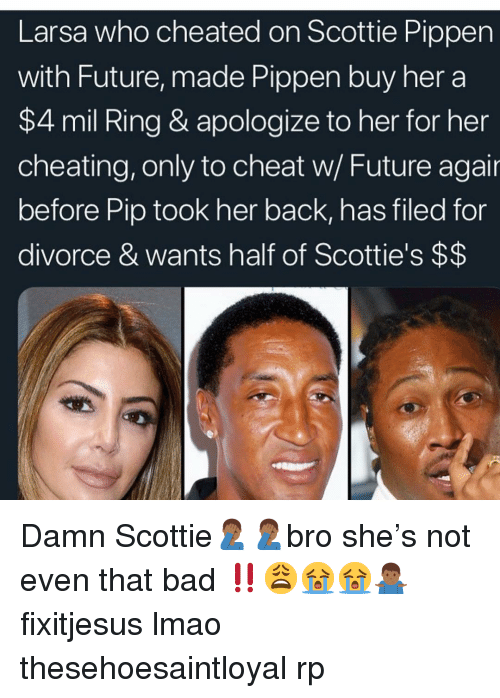 b5607cc3d Larsa Who Cheated on Scottie Pippen With Future Made Pippen Buy Her ...