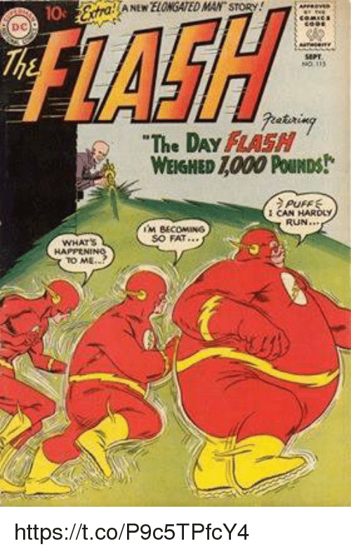 Lash A New Elongated Man Story 10 Dc Etsre The Day Flash Weighed