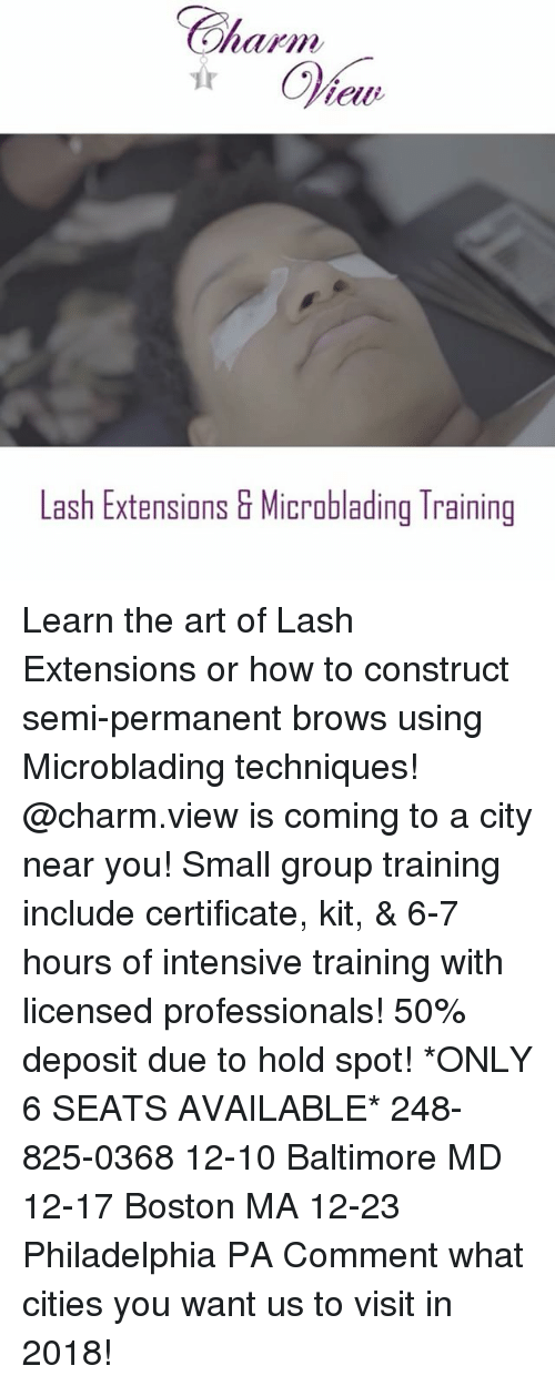 Lash Extensions & Microblading Training Learn the Art of