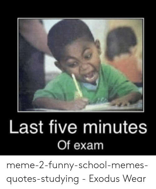 Last Five Minutes of Exam Meme-2-Funny-School-Memes-Quotes ...