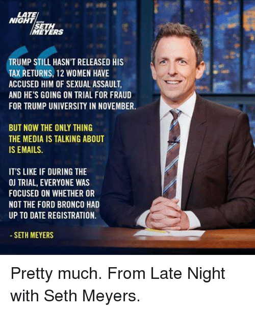 Trump Tax How Much Will I Save: 25+ Best Late Night With Seth Meyers Memes