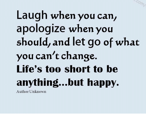Laugh When You Can Apologize When You Should And Let Go Of What You