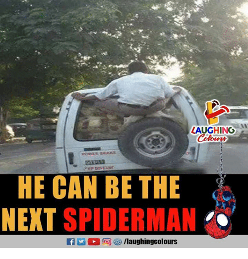 Spiderman, Indianpeoplefacebook, and Next: LAUGHING  HE CAN BE THE  NEXT SPIDERMAN