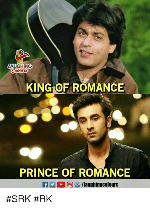 Prince, Indianpeoplefacebook, and Srk: LAUGHING  KING OF ROMANCE  PRINCE OF ROMANCE #SRK #RK