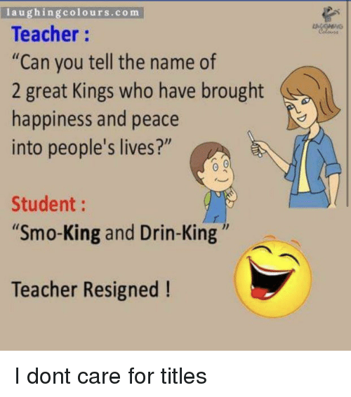 Laughingcolourscom Teacher Can You Tell the Name of 2 Great Kings