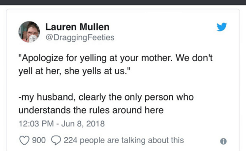 Lauren Mullen DraggingFeeties Apologize for Yelling at Your