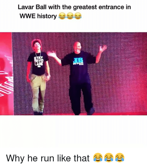 Funny, Run, and World Wrestling Entertainment: Lavar Ball with the greatest entrance in  WWE history Why he run like that 😂😂😂