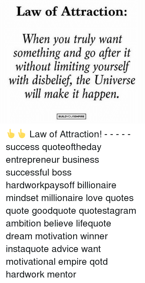 Law Of Attraction When You Truly Want Something And Go After It