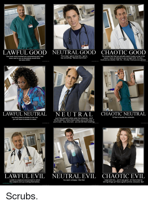lawful good neutral good chaotic good this is bad i got to stop this got to the simple fact that you actually seem to give a crap is the your hook shot     lawful good neutral good chaotic good this is bad i got to stop      rh   me me